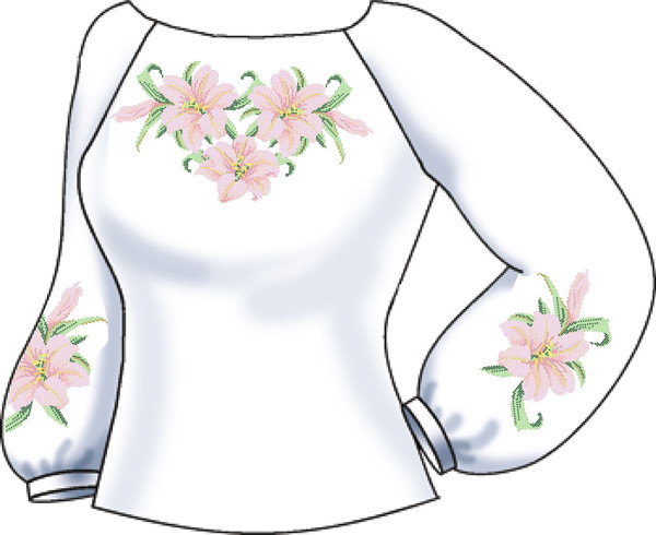 Заготовка для вишивки бісером Жіноча сорочка. -