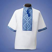 Сорочка вишиванка з білого льону короткий рукав 46-60 рр