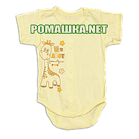 Детский боди-футболка р. 62 ткань КУЛИР 100% тонкий хлопок ТМ Алекс 3087 Желтый1