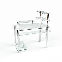 """Компьютерный стол из стекла """"Гиперион"""" БЦ-стол"""
