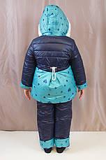 Детский зимний комбинезон на овчине для девочки., фото 2