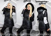 Модная женская зимняя куртка с капюшоном