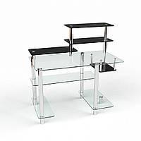 """Компьютерный стол из стекла """"Дебют"""" БЦ-стол"""