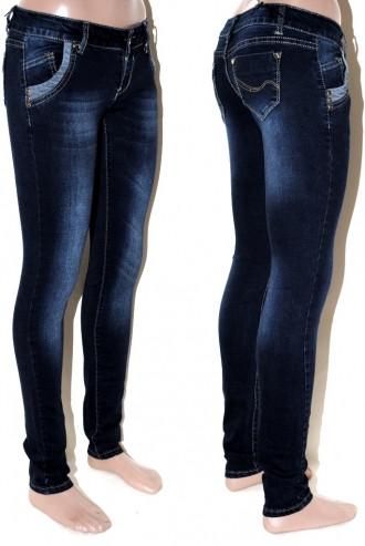 Женские  джинсы  со змейками