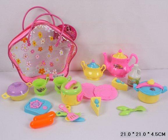 Іграшкова дитяча посуд набір ZD785-1 в рюкзаку 21*21*4, 5см