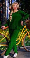 Вязаный спортивный костюм зеленый (44-46)