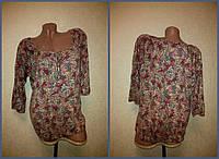 Блузка George женская б/у с длинным рукавом размер М (48)