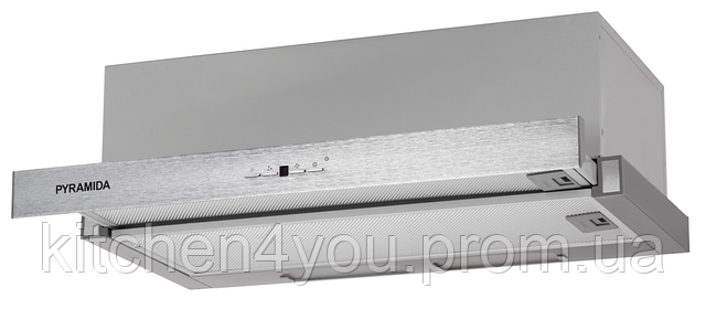 Pyramida TL 50 SYE-15 inox (500 мм.) кухонная встраиваемая, телескопическая вытяжка, нержавеющая сталь