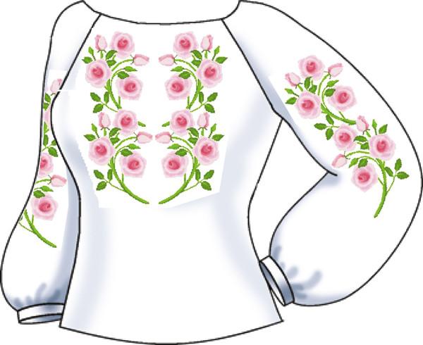 СВЖБ-23. Заготовка для вишивки бісером Жіноча сорочка. 5fc79bf7726a7