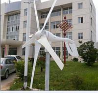 600w max ветряк Ветрогенератор 5 лопастей  12в 24в компактный для дачи дома кемпинга пасеки сторожки