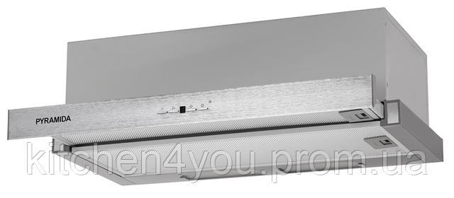 Pyramida TL 60 SYE-15 inox (600 мм.) кухонная встраиваемая, телескопическая вытяжка, нержавеющая сталь