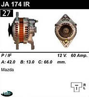Генератор  Mazda 626 929 Bongo Capella E-Series RX Telstar 60Амр JA174IR.