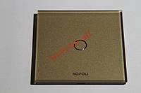 Золотой Сенсорный выключатель 1 линия,каленое стекло, есть 7 цветов стекла для ванной кухни прихожей