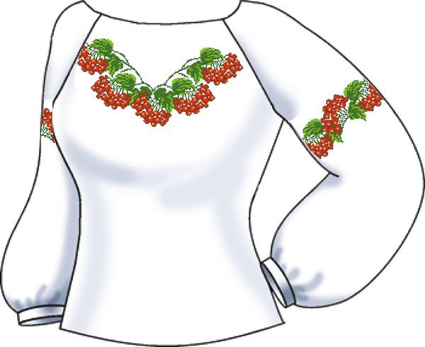СВЖБ-24. Заготовка для вишивки бісером Жіноча сорочка. c0e6cb05c0d0e