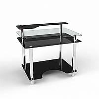 """Компьютерный стол из стекла """"Денвер"""" БЦ-стол"""