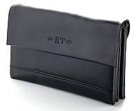Мужской кожаный клатч барсетка ST