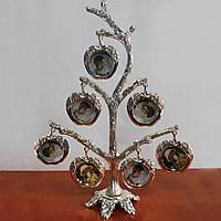 """Рамка дерево """"Яблоки"""" для 7 фотографий 3 х 3 см, 15х22 см"""