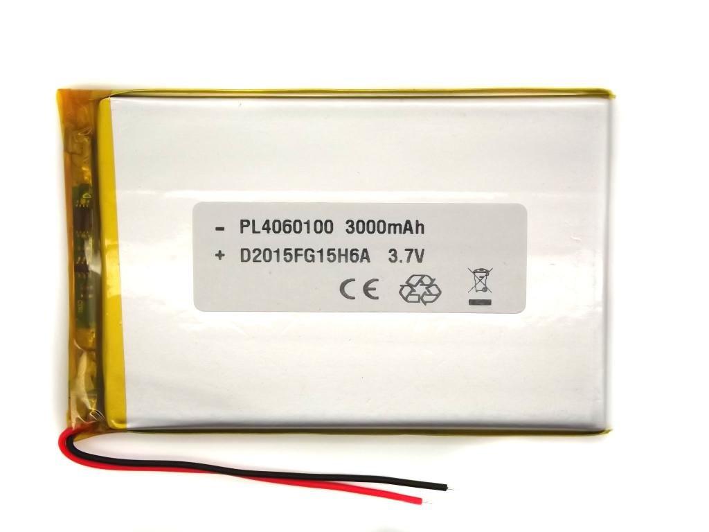 Аккумулятор (батарея) 3000 мАч для планшета - 3,7в универсальный 3000 mAh 3.7v размер 3.0*63*105 мм (4060100)