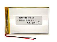Аккумулятор (батарея) 3000 мАч для планшета - 3,7в универсальный 3000 mAh 3.7v размер 3.0*63*105 мм (4060100), фото 1