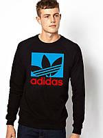 Свитшот черный Adidas ( цветное лого )
