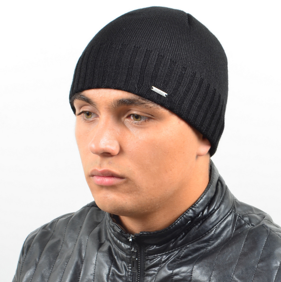 Мужская вязанная шапка NORD черный