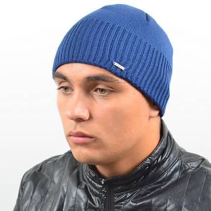 Мужская вязанная шапка NORD джинс, фото 2