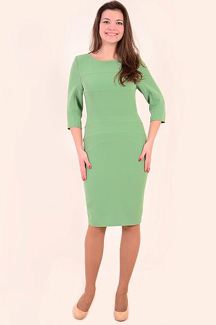 Платье женское ментол стрейч юбка зауженная «Нефертити» зеленое. 46р