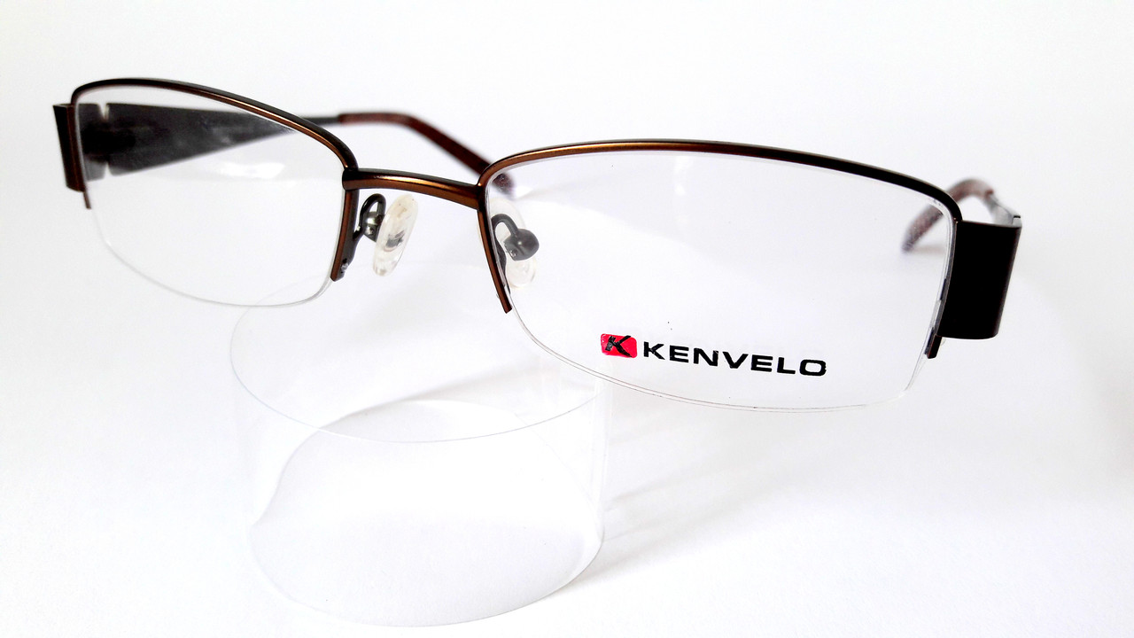Оправа Kenvelo, чеський бренд, полуободковая, з металу коричневого кольору