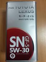 Масло моторное синтетическое TOYOTA SAE 5W-30 4л.- производства Германии