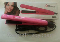 Выпрямитель для волос с керамическим покрытием Domotec DT-332, электрический выпрямитель волос, плойка