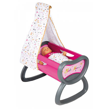 Кроватка для куклы с балдахином Smoby Baby Nurse 220311, фото 2