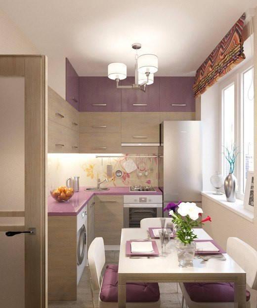 маленькая угловая кухня в проекте