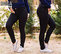 Женские стильные черные джинсы 0742