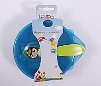 Детская тарелочка с ложечкой , фото 1