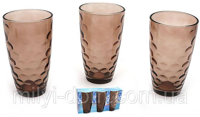Разноцветные стаканы,коричневые, круги. набор 6 шт