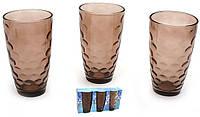 Разноцветные стаканы,коричневые, круги. набор 6 шт, фото 1