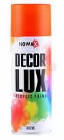 Акриловая флуоресцентная спрей краска NOWAX ✔ цвет: оранжевый ✔ 450мл.