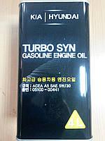 Масло моторное синтетическое KIA/Hyundai Turbo Syn Gasoline Engine Oil SN 5W30 4л.- производства Германии
