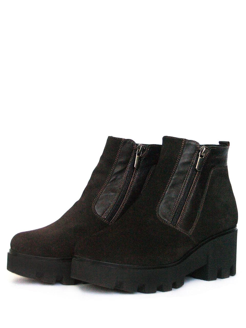 Ботинки зимние коричневые