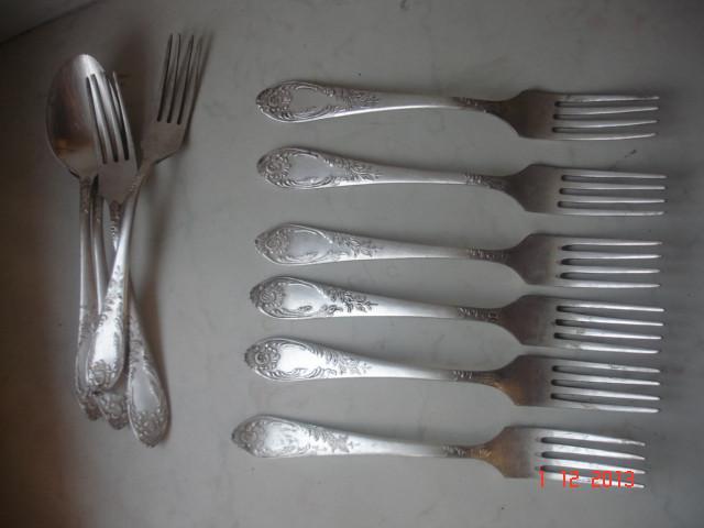 Вилки мельхиор серебрение знак качества СССР