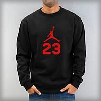 """Свитшот черный Jordan  ( Джордан ) 23 ( красное лого ) """""""" В стиле Jordan """""""""""