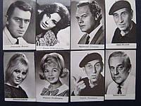 Набор фотооткрыток артисты кино СССР 8 шт.