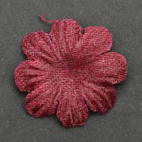 Цветок  8 -листник. Цвет бордовый. Размер 18 мм