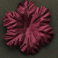 Цветок   большой 5 -листник. Цвет бордовый Размер 30 мм