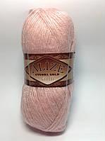 Пряжа angora gold simli - цвет розовый