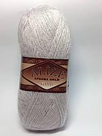 Пряжа angora gold simli - цвет серый