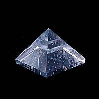 """Пирамида сувенир камень """" Горный хрусталь"""" h-2,2-2,8см b-3,6-3,8см"""