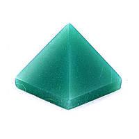 """Пирамида сувенир камень """"Нефрит"""" h-2,5см b-2,8см"""