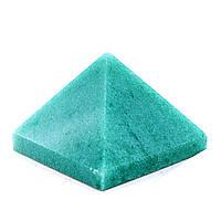 """Пирамида сувенир камень """"Нефрит"""" h-2,5-3см b-4см"""