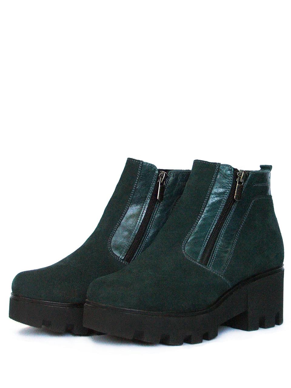 Зеленые женские ботинки